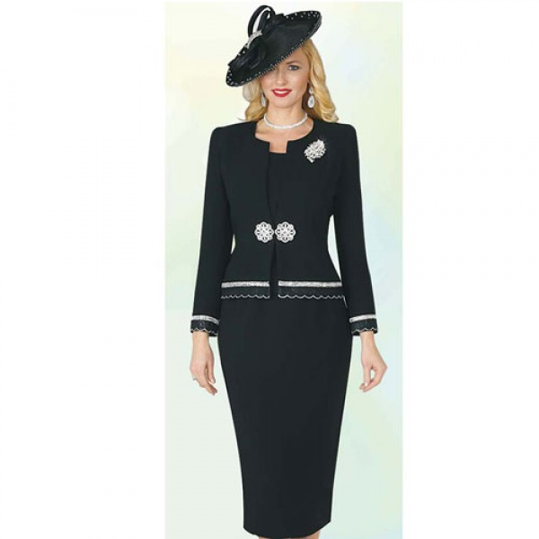 2a87a9864f2 Lily and Taylor 4272 Women Church Suit