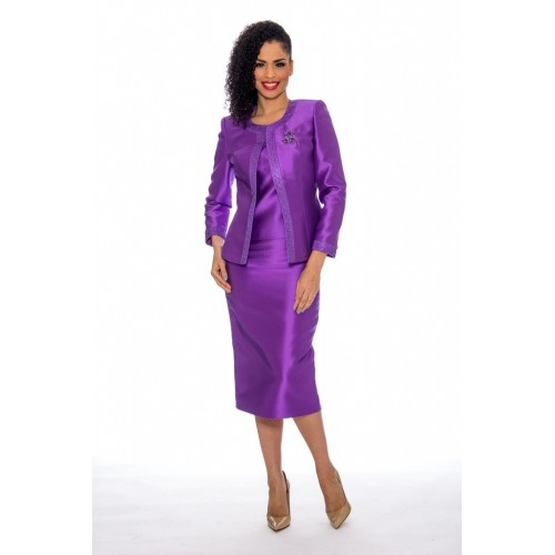 Terramina 7637 Purple women suit and dress