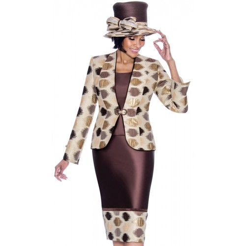 Terramina 7688 Ladies 3 Piece Church Suit